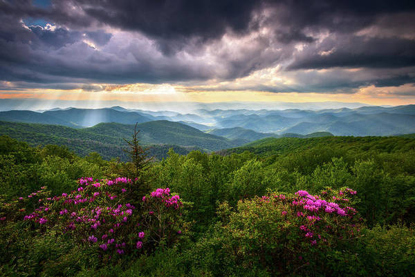 Wall Art - Photograph - Asheville Nc Blue Ridge Parkway Scenic Landscape Photography by Dave Allen