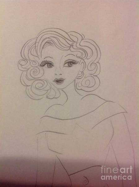 Drawing - Ashley Barbour by Philip Bracco