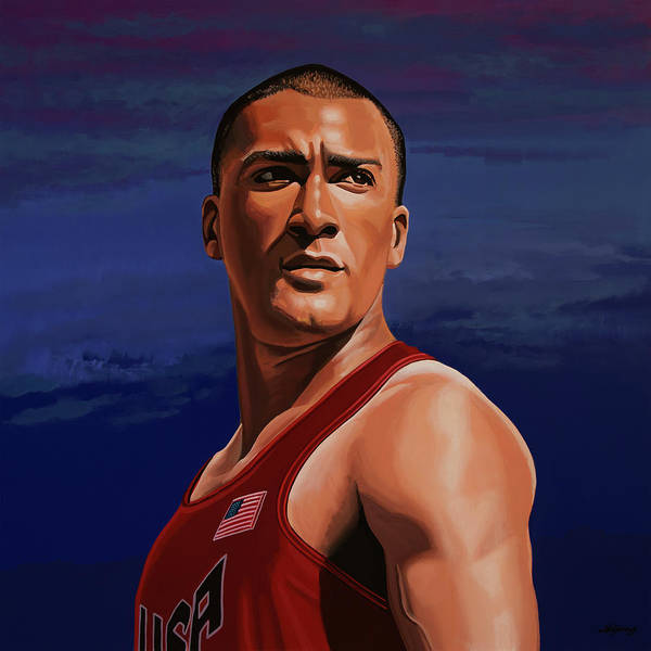 Stadium Painting - Ashton Eaton Painting by Paul Meijering