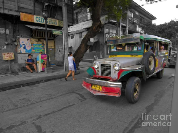 Photograph - Asia Philippines Jeepney Sari Sari Store 6282092sc by Rolf Bertram