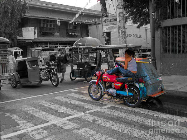 Photograph - Asia Philippines Motorcycle Sidecar Taxi 6282086sc by Rolf Bertram