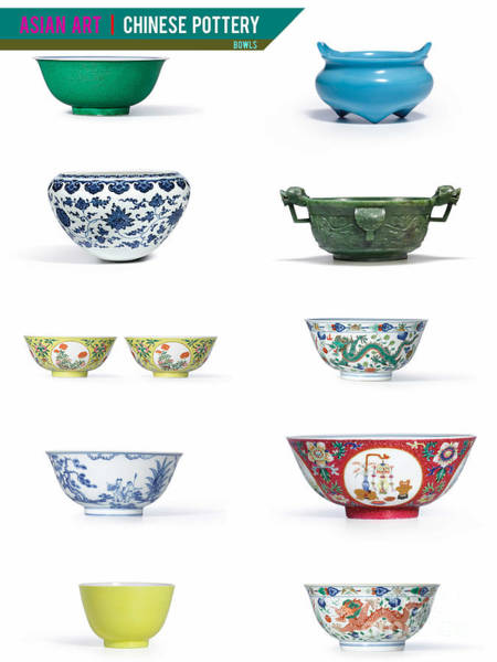Photograph - Asian Art Chinese Pottery - Bowls by Celestial Images