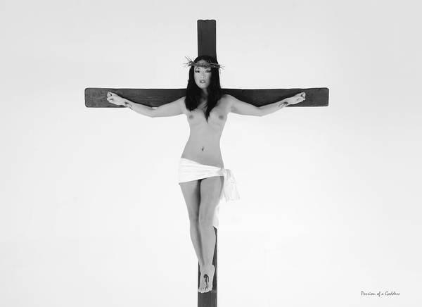 Crucifiction Wall Art - Photograph - Asian Female Jesus by Ramon Martinez
