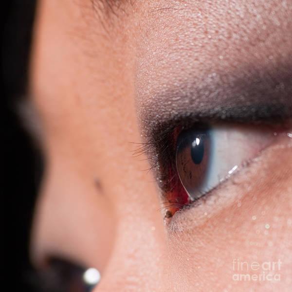 Photograph - Asian Girl Eyes 1283053 by Rolf Bertram