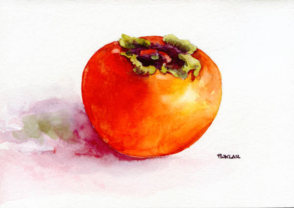 Persimmon Painting - Asian Persimmon by Peter Lau