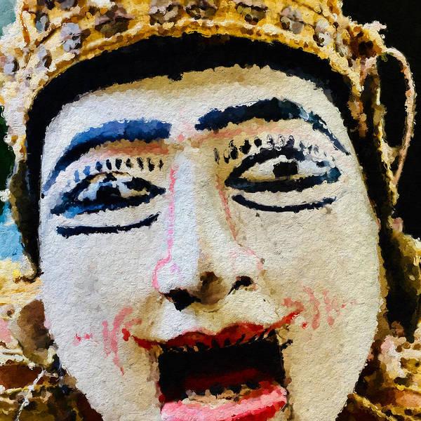 Sonrisa Wall Art - Photograph - Asian Puppet Head by Modern Art