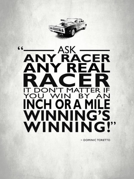 Vin Wall Art - Photograph - Ask Any Racer by Mark Rogan