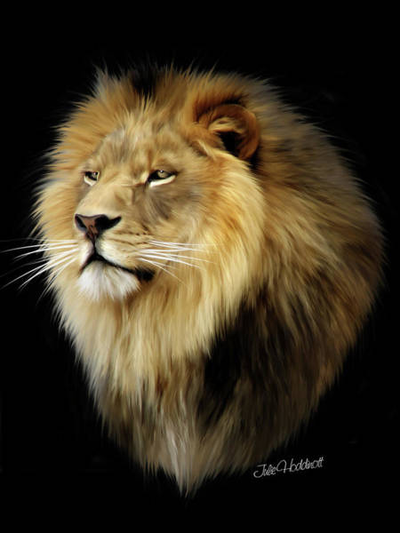 Regal Digital Art - Aslan by Julie L Hoddinott
