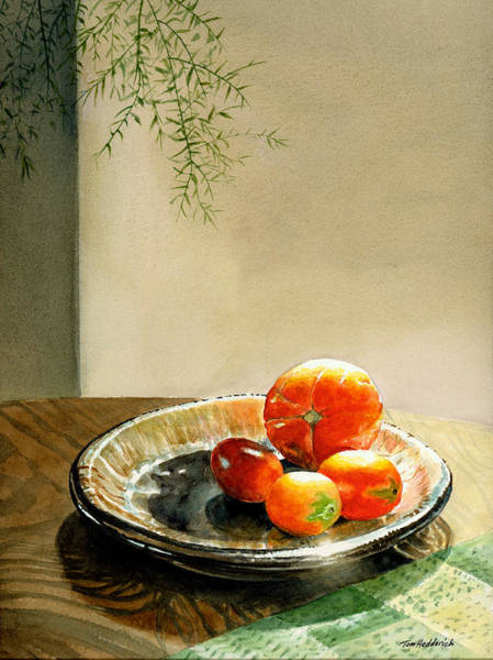 Wall Art - Painting - Asparagus And Tomatoes by Tom Hedderich