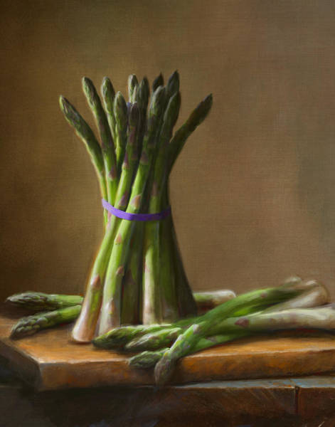 Food Wall Art - Painting - Asparagus  by Robert Papp