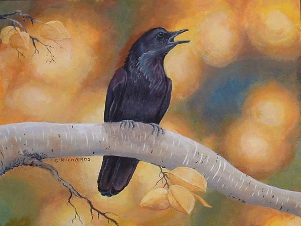 Blackbirds Painting - Aspen Aura by Carole Rickards