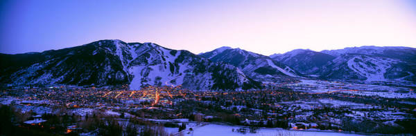 After Dark Photograph - Aspen, Colorado, Usa by Panoramic Images