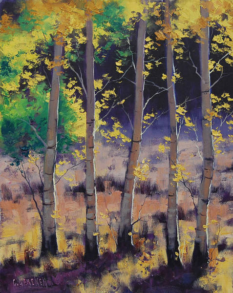 Realist Painting - Aspen Colors by Graham Gercken