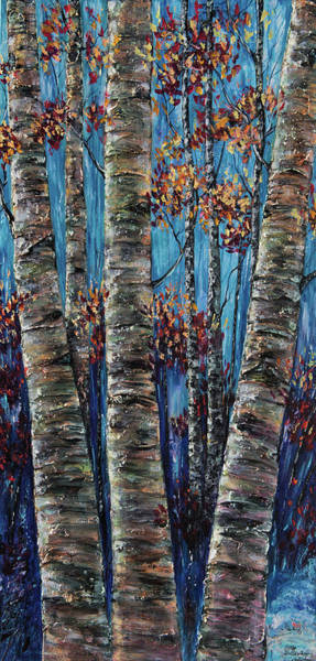 Painting - Aspen Forest In The Rocky Mountain by OLena Art - Lena Owens
