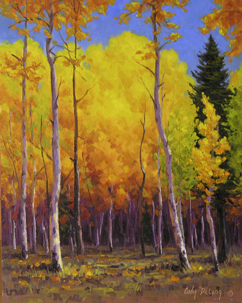Wall Art - Painting - Aspen Glow by Cody DeLong