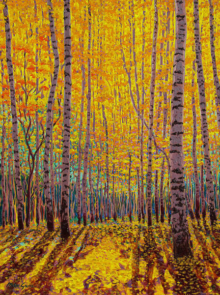 Sedona Painting - Aspen Glow by Michael Gross