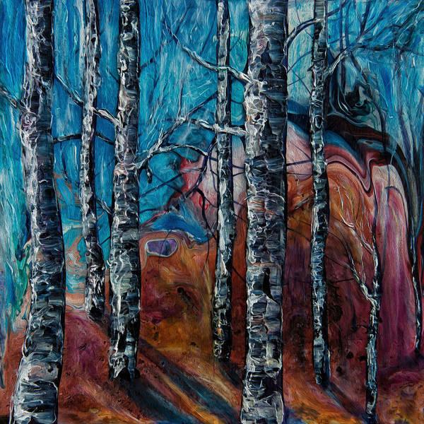 Painting - Aspen Grove - 2 by OLena Art - Lena Owens
