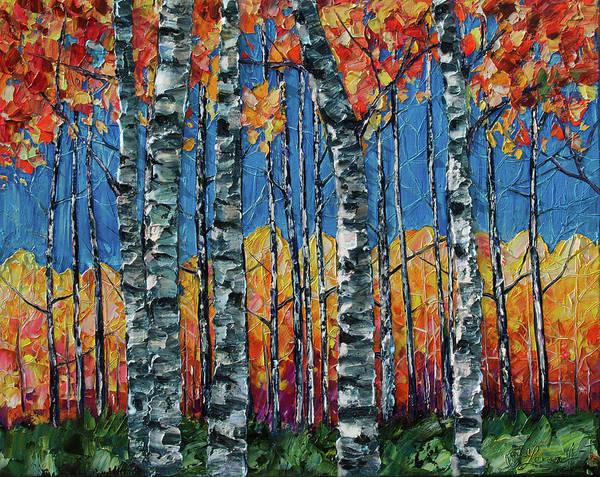 Painting - Aspen Grove By Olena Art by OLena Art - Lena Owens