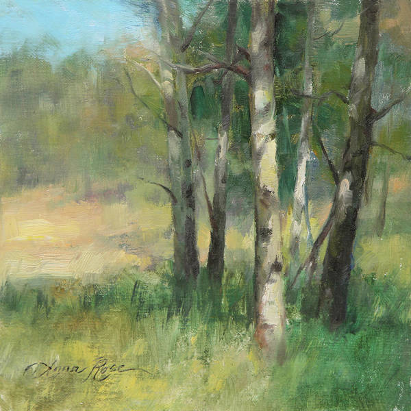 Late Wall Art - Painting - Aspen Grove II by Anna Rose Bain