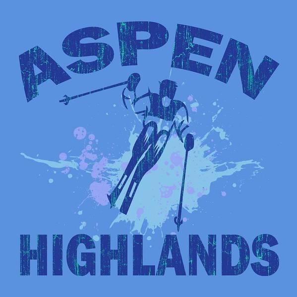 Wall Art - Digital Art - Aspen Highlands by David G Paul