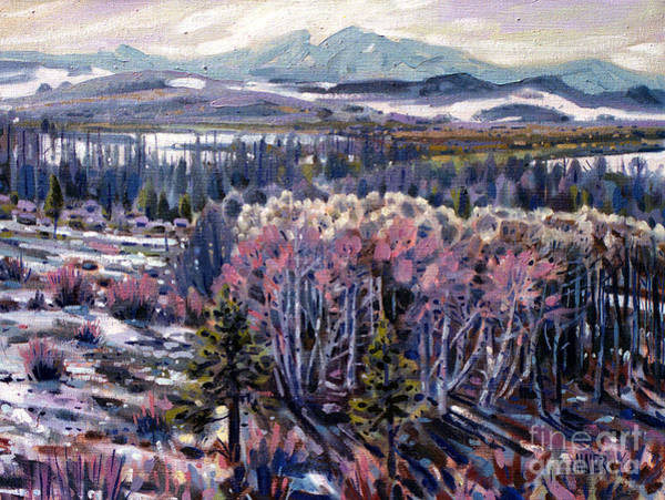 Sierra Nevada Painting - Aspen In April by Donald Maier