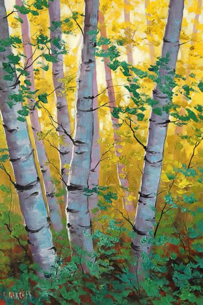 Oak Painting - Aspen Light by Graham Gercken