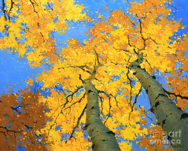 Wall Art - Painting - Aspen Sky High  by Gary Kim