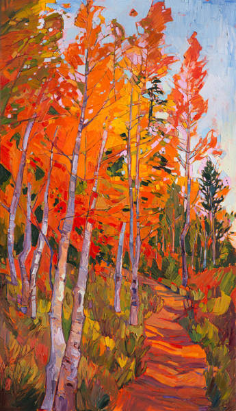 Zion Painting - Aspen Trail by Erin Hanson