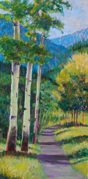 Wall Art - Painting - Aspen Trails by Billie Colson