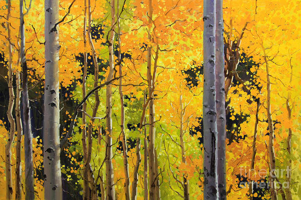 Wall Art - Painting - Aspen Trees by Gary Kim