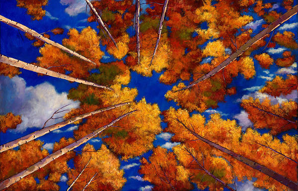 Looking Up Painting - Aspen Vortex by Johnathan Harris