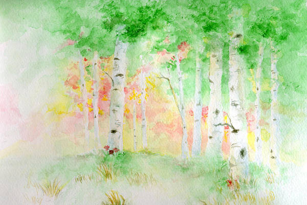 Painting - Aspens by Andrew Gillette