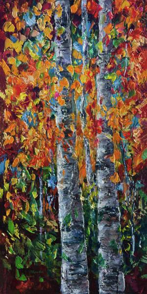 Painting - Aspens by OLena Art - Lena Owens