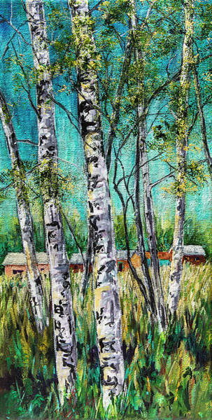 Painting - Aspens On The Farm by Sally Quillin
