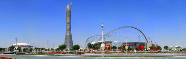 Photograph - Aspire Complex In Doha by Paul Cowan
