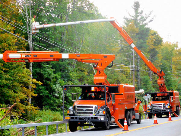 Utility Painting - Asplundh Tree Expert Company Trucks 3 by Jeelan Clark