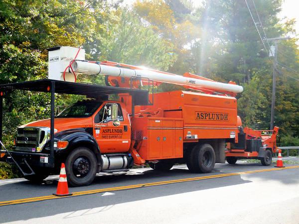 Utility Painting - Asplundh Tree Expert Company Trucks 5 by Jeelan Clark