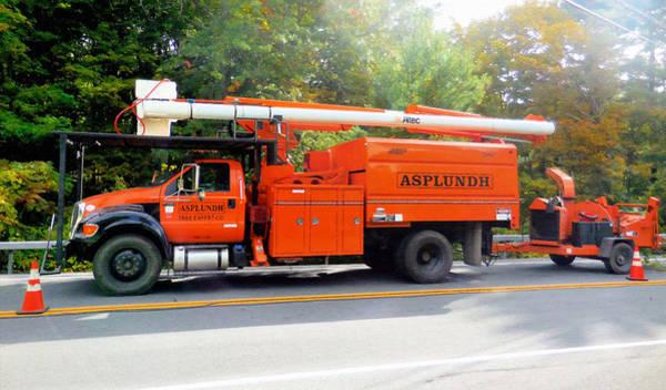 Utility Painting - Asplundh Tree Expert Company Trucks by Jeelan Clark