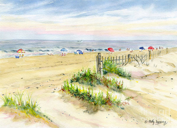 Outer Banks Painting - Assateague Afternoon by Melly Terpening
