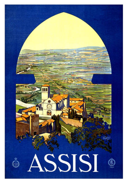 Assisi Painting - Assisi, Perugia, Italy by Long Shot