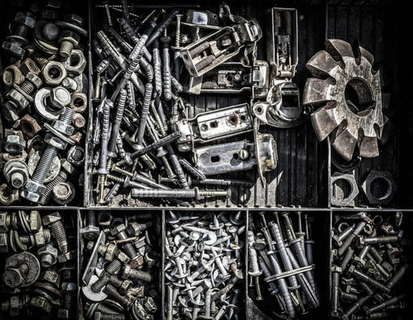 Photograph - Assorted Collection Of Nuts And Bolts by John Williams