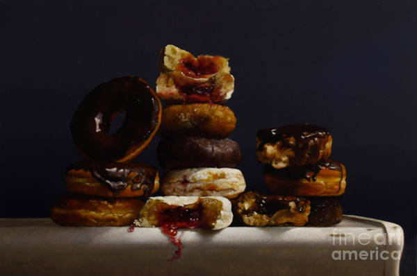 Glazed Wall Art - Painting - Assorted Donuts by Lawrence Preston
