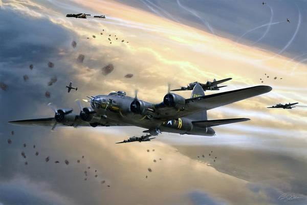 World War 2 Digital Art - Assault On Romilly by Peter Chilelli