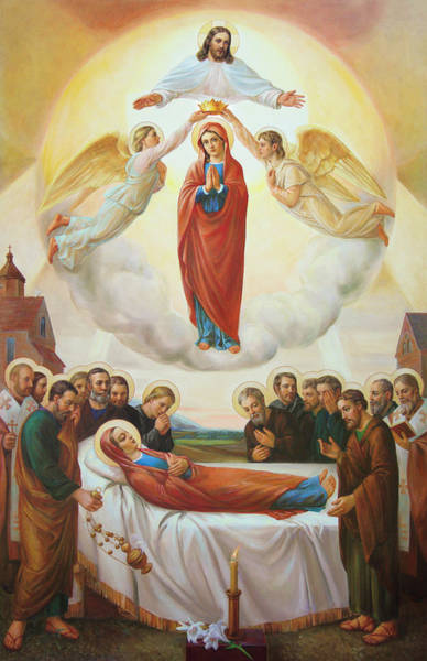 Wall Art - Painting - Assumption Of The Blessed Virgin Mary Into Heaven by Svitozar Nenyuk
