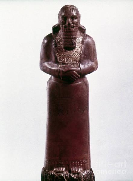 Photograph - Assyrian Statue by Granger