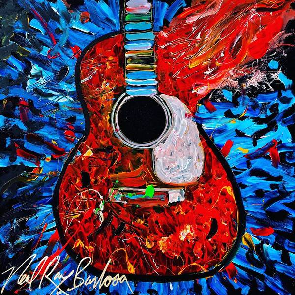 Painting - Asteroid Guitar by Neal Barbosa