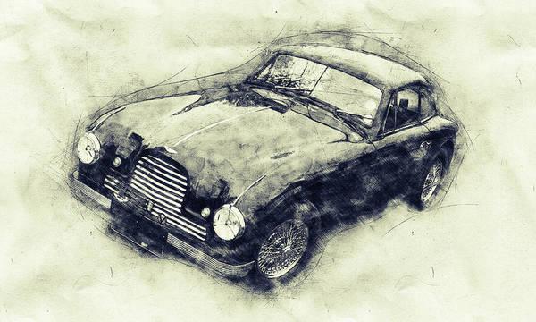 Four Wheeler Mixed Media - Aston Martin Db2 Gt Zagato 1 - 1950 - Automotive Art - Car Posters by Studio Grafiikka