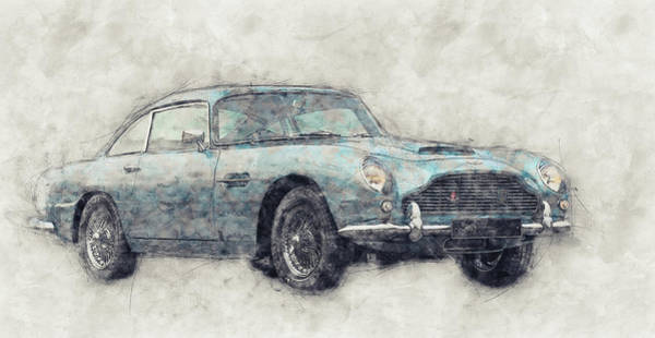 Garage Decor Mixed Media - Aston Martin Db5  1- Luxury Grand Tourer - Automotive Art - Car Posters by Studio Grafiikka