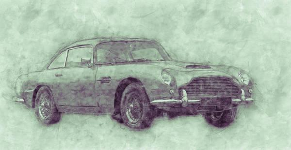 Db5 Wall Art - Mixed Media - Aston Martin Db5 3 - Luxury Grand Tourer - Automotive Art - Car Posters by Studio Grafiikka
