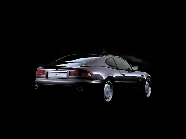 Digital Art - Aston Martin Db7 by Maye Loeser